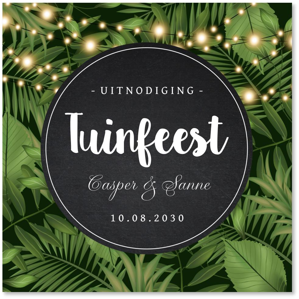Uitnodiging tuinfeest