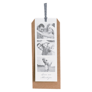 Label-trouwkaart van Buromac met filmstrip I 106138