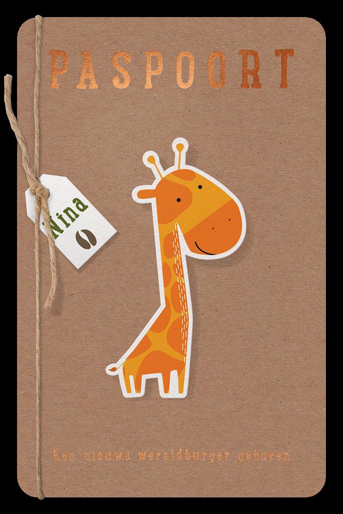 Belarto paspoort geboortekaartje met dieren I 717041
