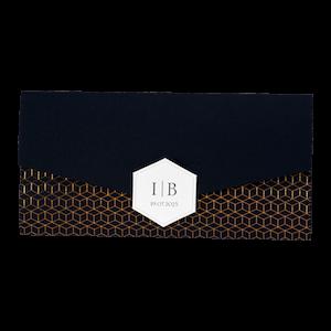 Chique trouwkaart met koper op zwart I Buromac 108066