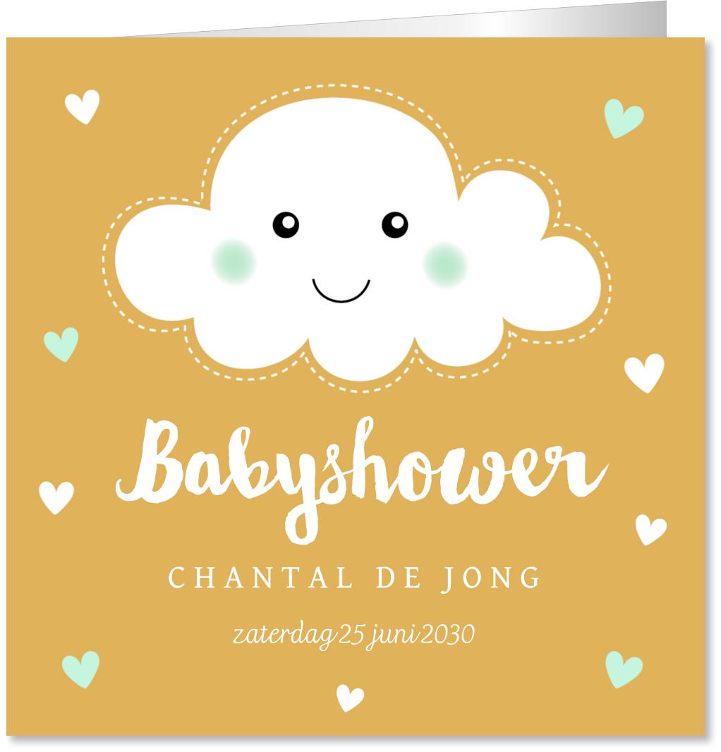 Babyshowerkaart wolkje