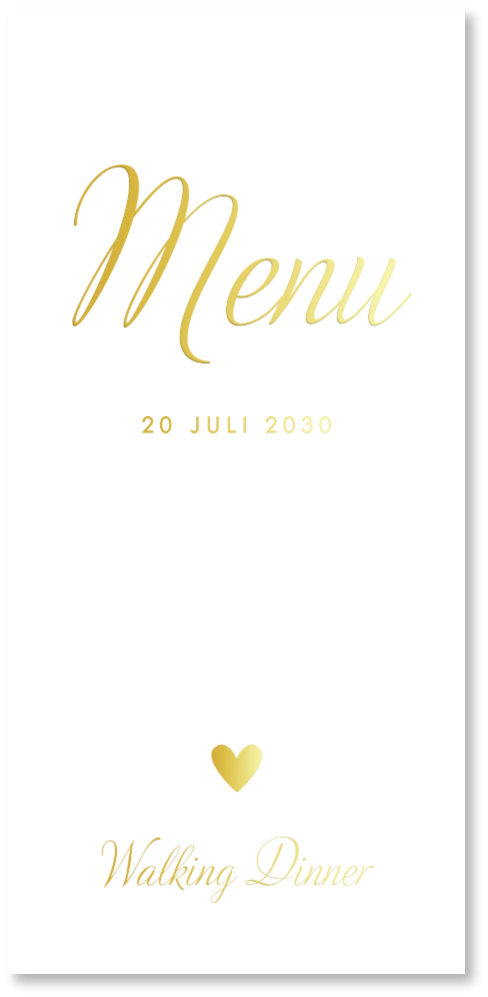 GOUDFOLIE menukaart bruiloft