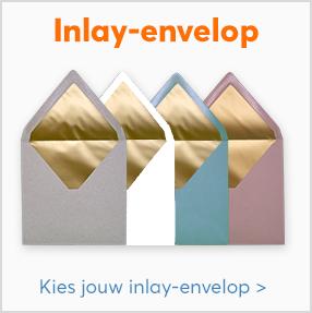 Reclameblokje gouden inlay enveloppen