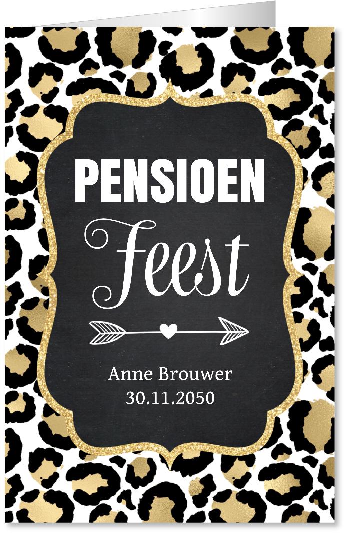 Pensioenfeest panterprint