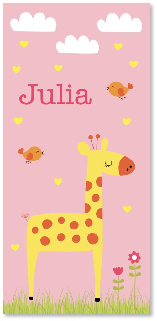 Geboortekaartje meisje giraf