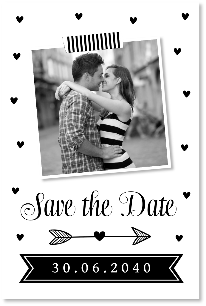 Save the Date hartjes