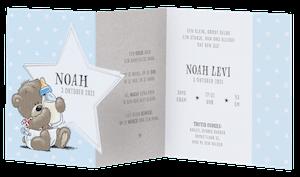 Lief babykaartje van Belarto met beertje en sterren I 718000