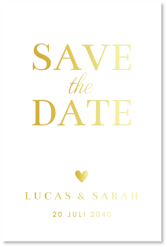 GOUDFOLIE Save the Date typografie