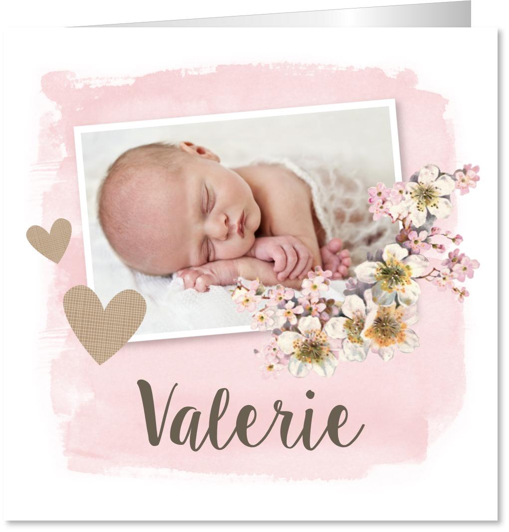 Geboortekaartje meisje foto
