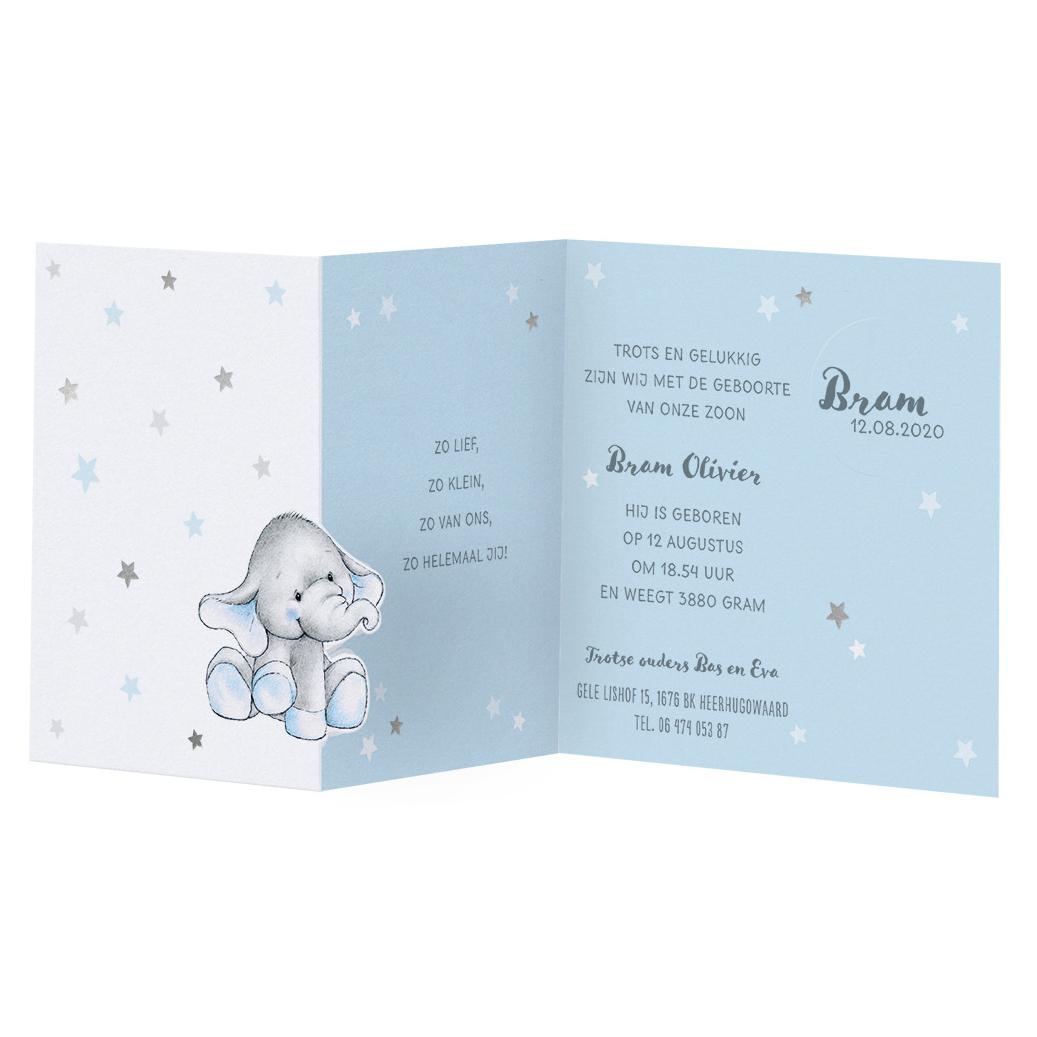 Schattig babykaartje met olifant I Belarto 717011