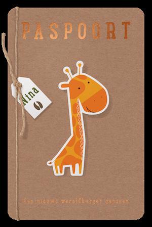 Kraftkartonnen paspoort met dieren