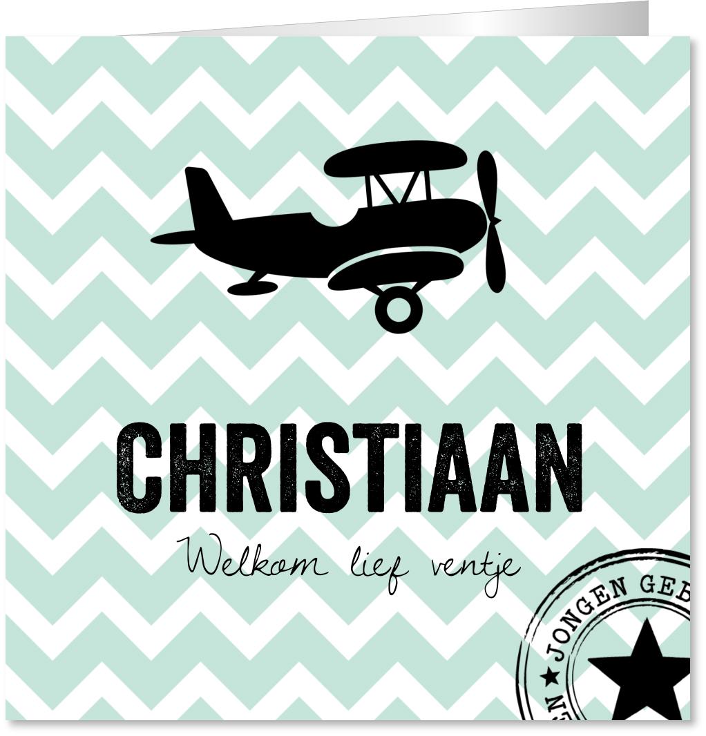 Geboortekaartje vliegtuig