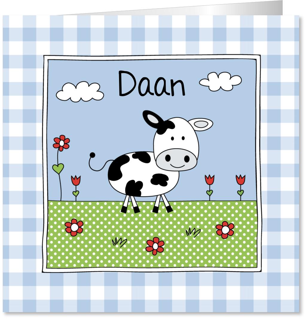 Geboortekaartje jongen koe