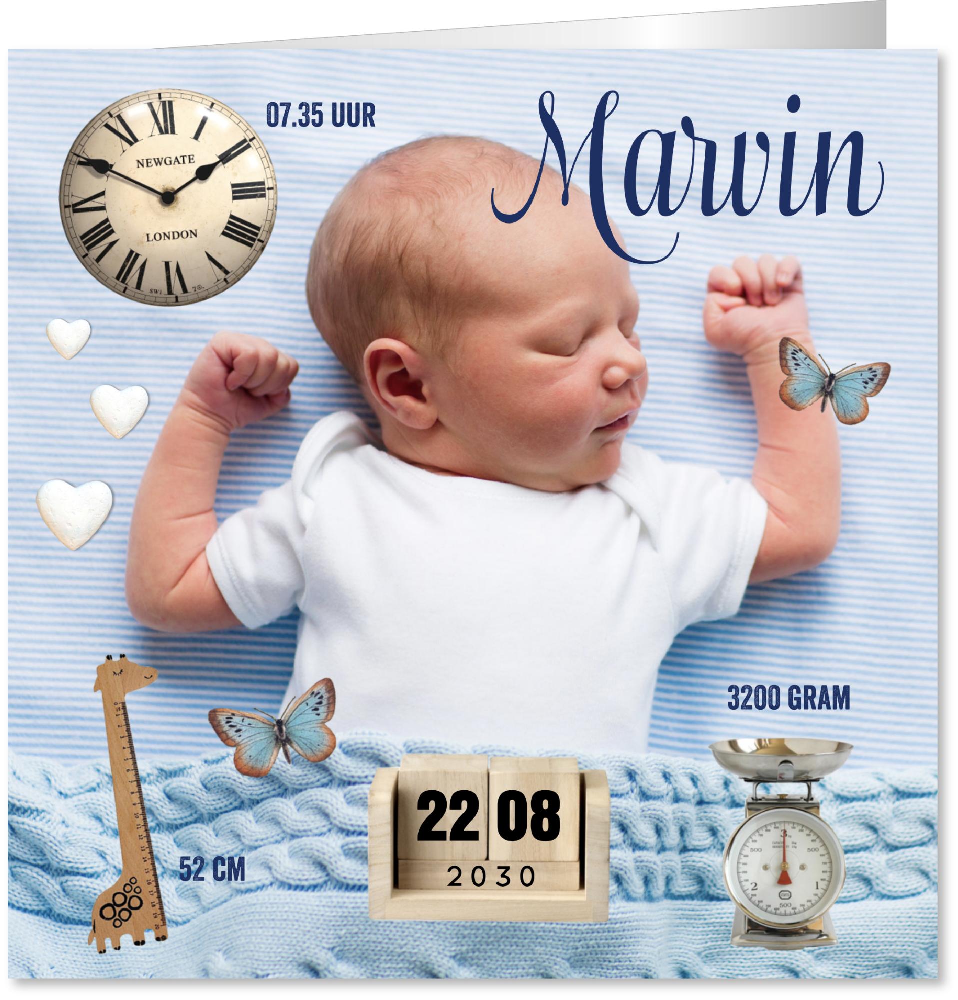 Geboortekaartje icoontjes foto