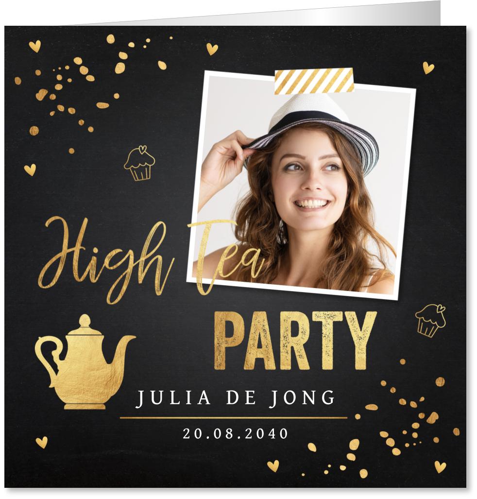 High tea confetti goud foto