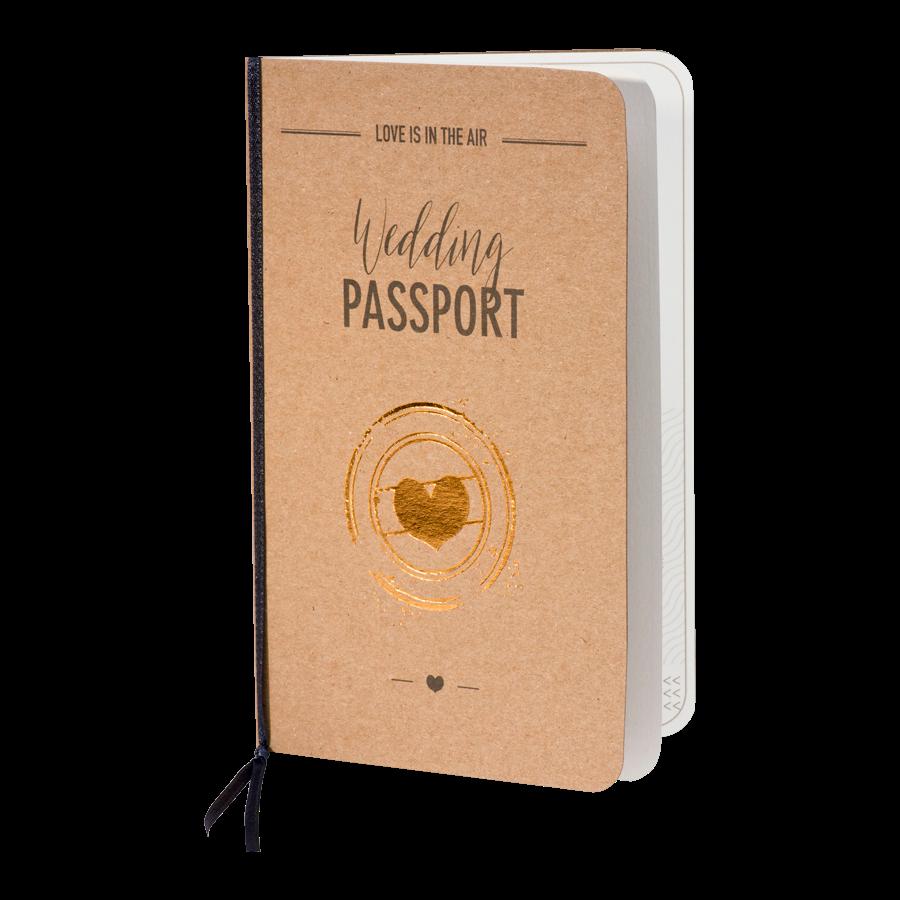 Vintage trouwkaart als paspoort op kraft - Buromac 108044