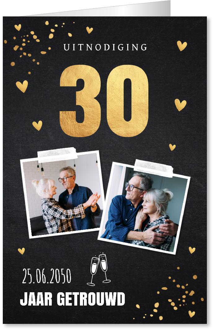 Jubileumkaart 30 jaar getrouwd