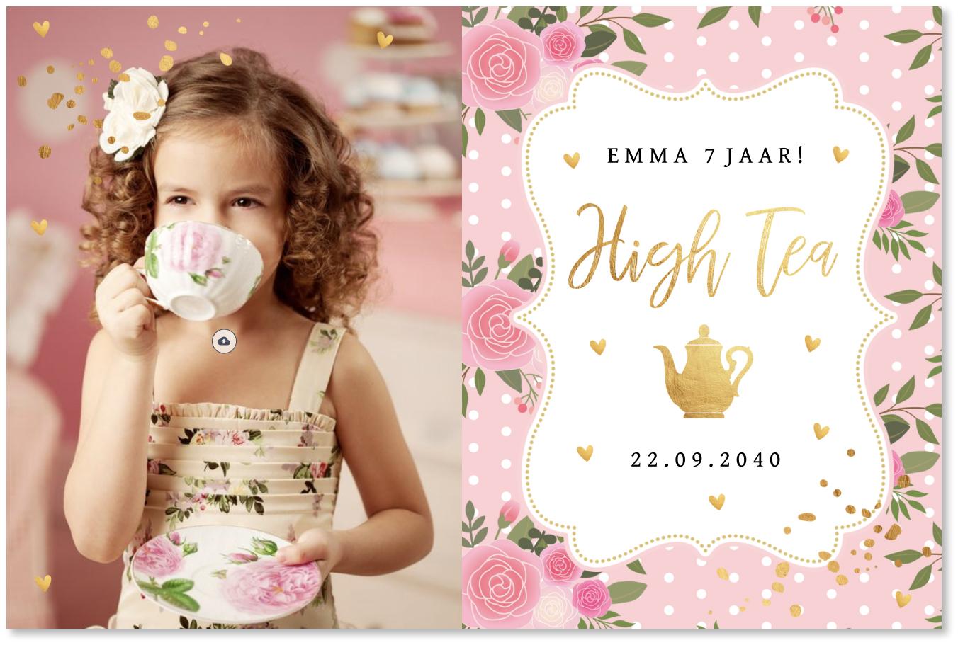 High Tea uitnodiging foto