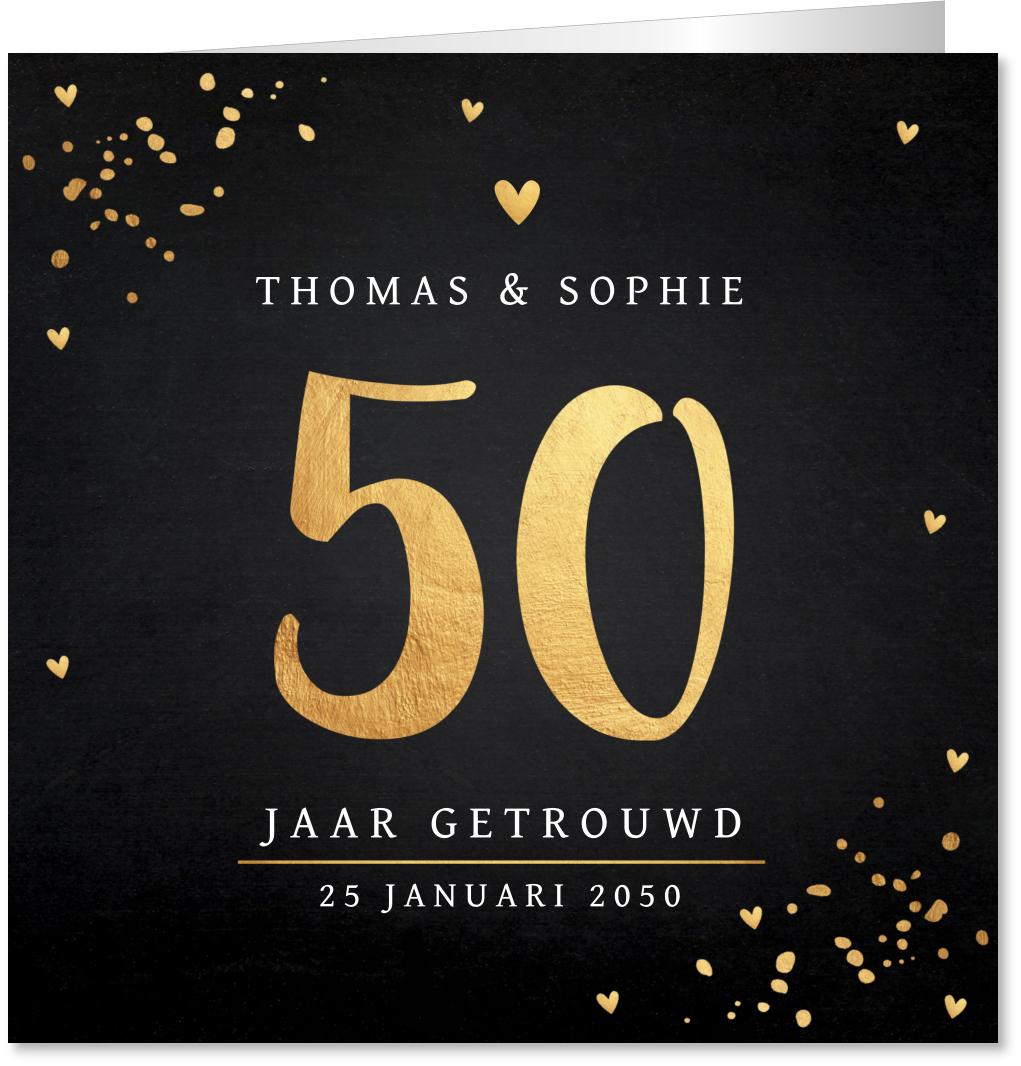 Jubileumkaart 50 jaar getrouwd
