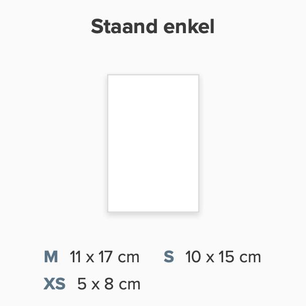 Zelf maken staand rechthoek enkel