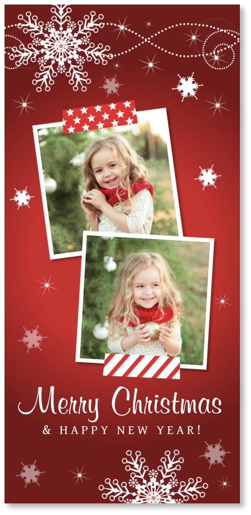 Kerstkaart foto langwerpig