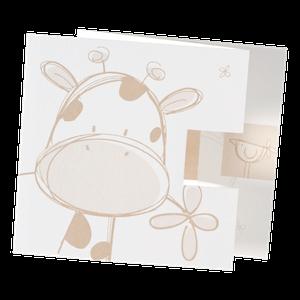 Schattig babykaartje met giraffe