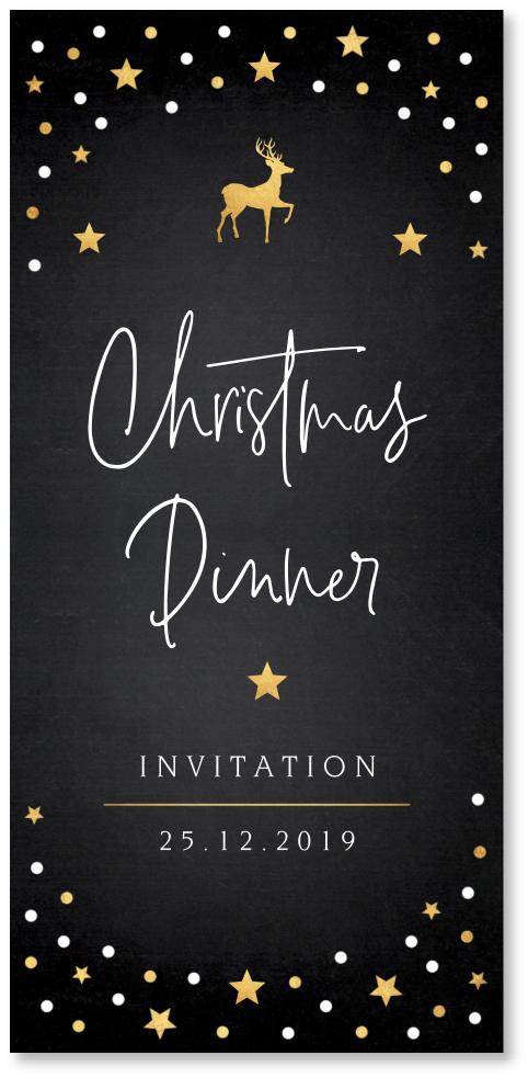 Uitnodiging kerstdiner confetti