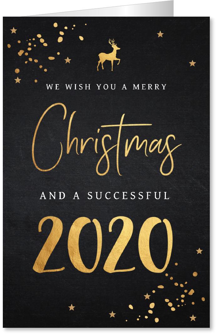 Zakelijke kerstkaart typografie