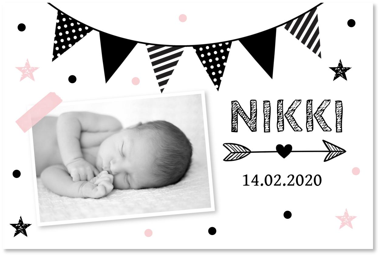 Geboortekaartje foto slinger