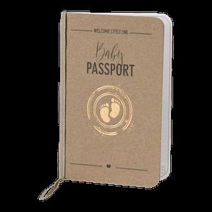 Stoer paspoort van Buromac met kraft en voetjes stempel I 589024