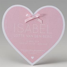 Romantisch babykaartje in de vorm van een hart 714027