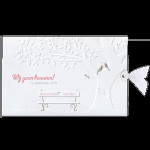 Romantische trouwkaart met witte boom I Belarto 727012