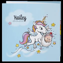 Illustratief babykaartje met unicorn I Belarto 718042