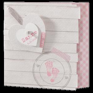 Origineel geboortekaartje met witte planken I Belarto 715018
