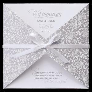 Klassieke trouwkaart met bloemenprint I Belarto 728029
