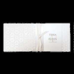 Stijlvol trouwkaartje in parelmoer I Belarto 727035