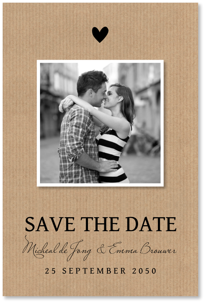 Save the date kaart kraft foto