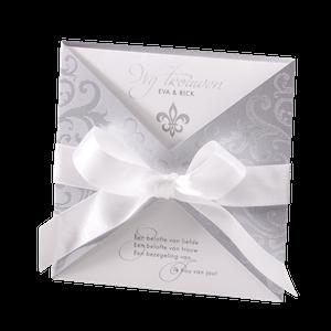 Stijlvolle trouwkaart in zilver I Belarto 723070