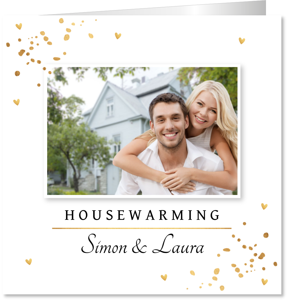Housewarming foto confetti
