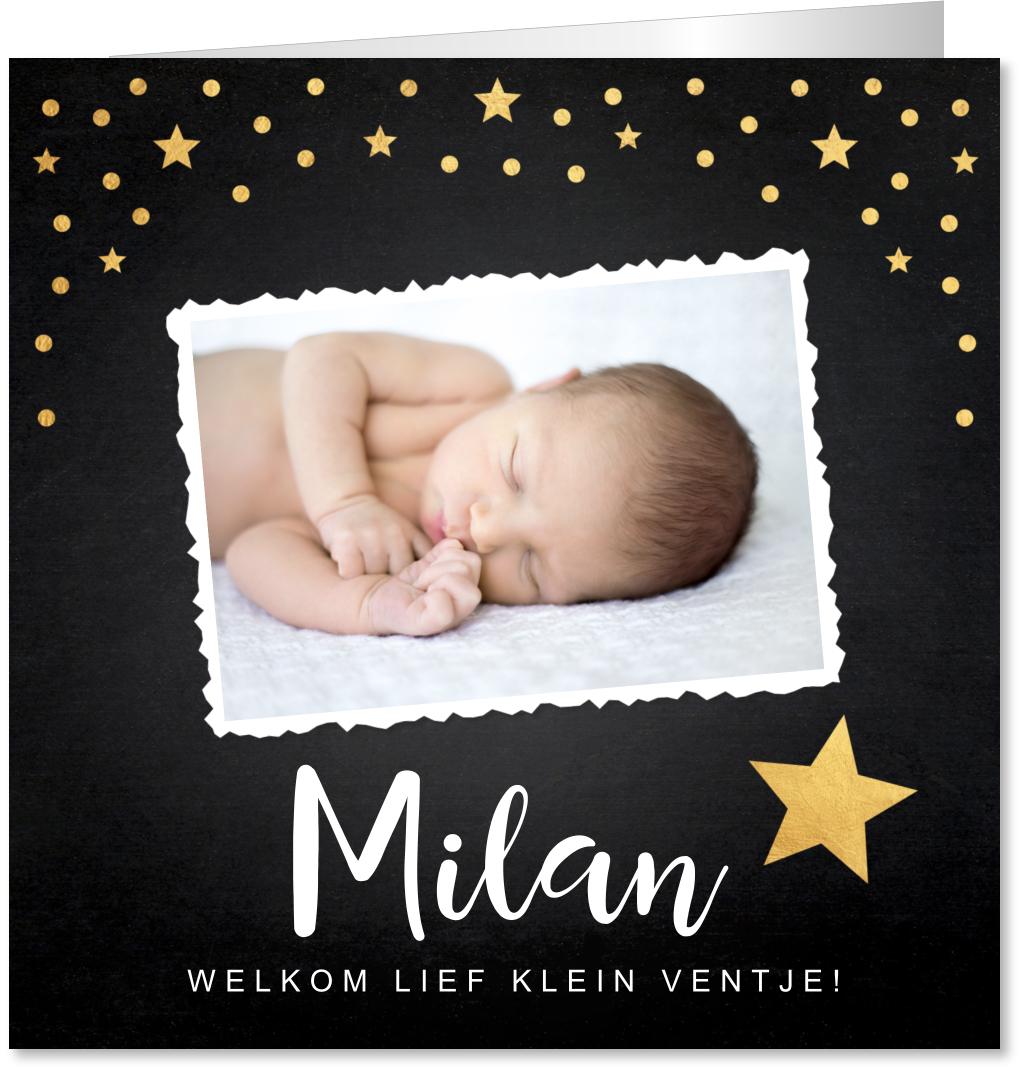 Geboortekaartje foto sterren