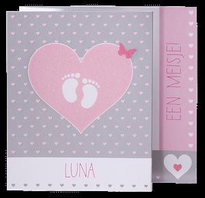 Hip babykaartje met stippen I 715912