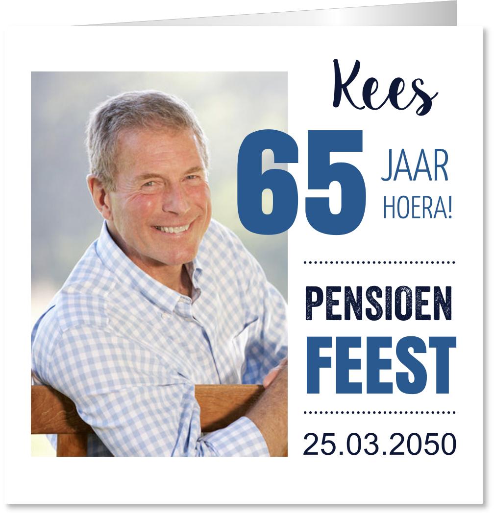 Pensioen uitnodiging foto