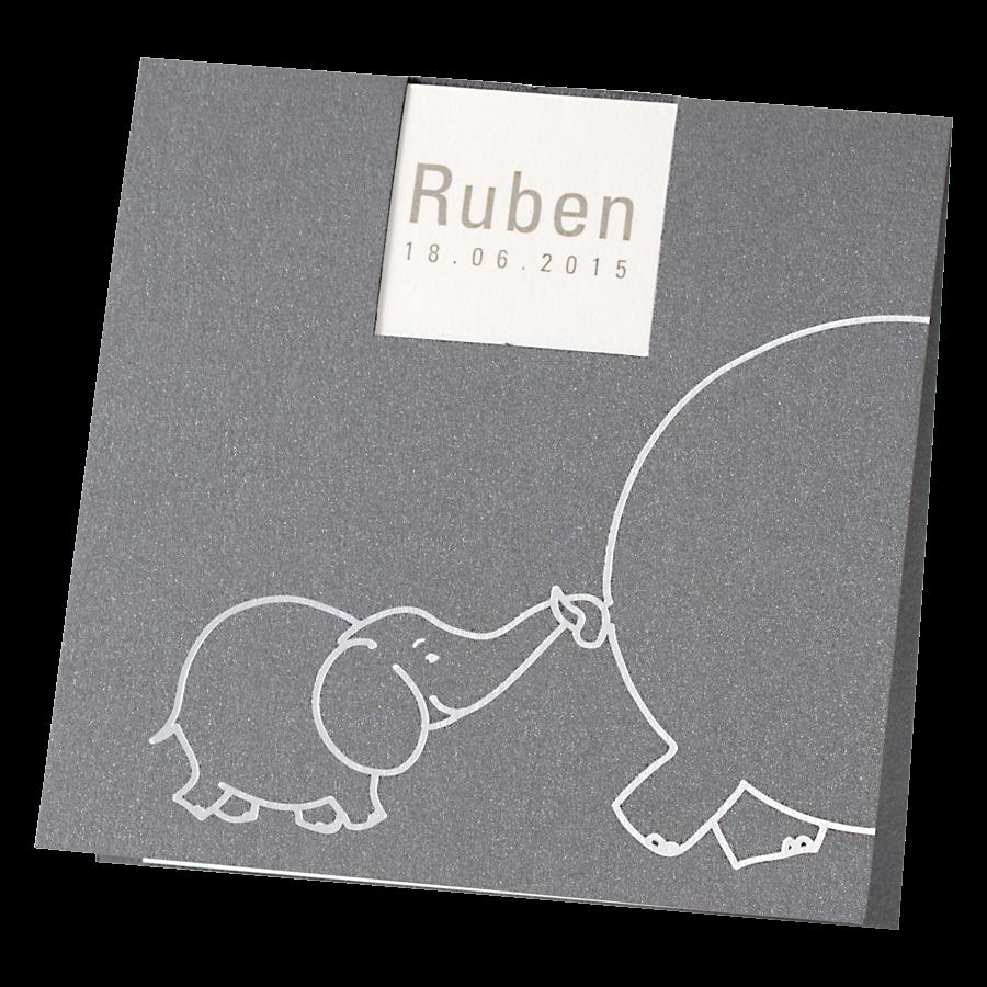 Lief geboortekaartje van Buromac met babyolifant I 580019