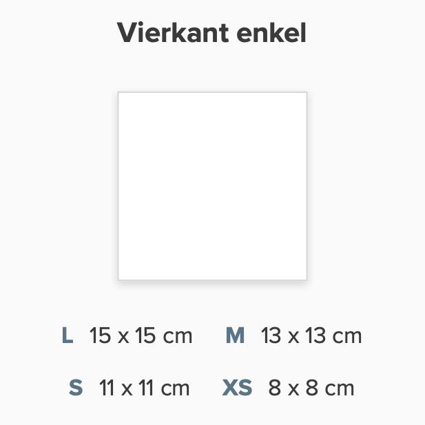 Zelf maken enkel vierkant