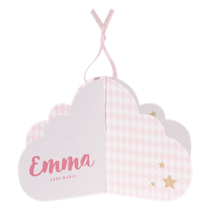 Origineel geboortekaartje roze wolkje I Buromac 586029