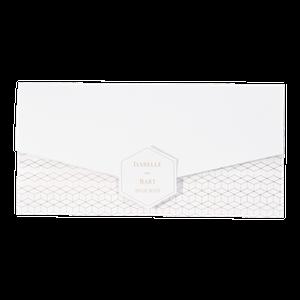Stijlvolle trouwkaart - Envelop-vorm met goud patroontje I 108065