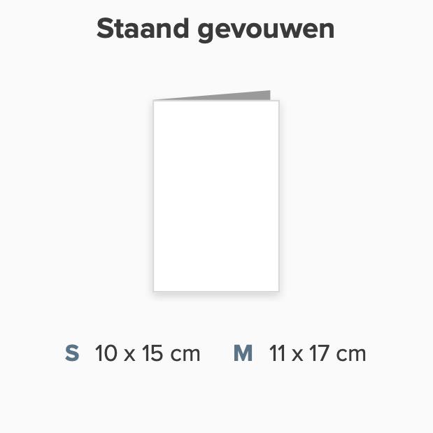 Zelf maken rechthoek staand dubbbel