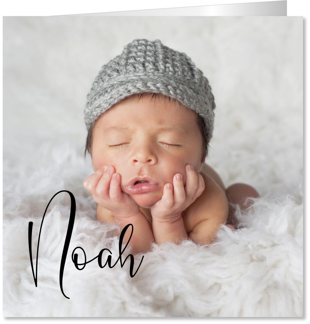 Geboortekaartje eigen foto