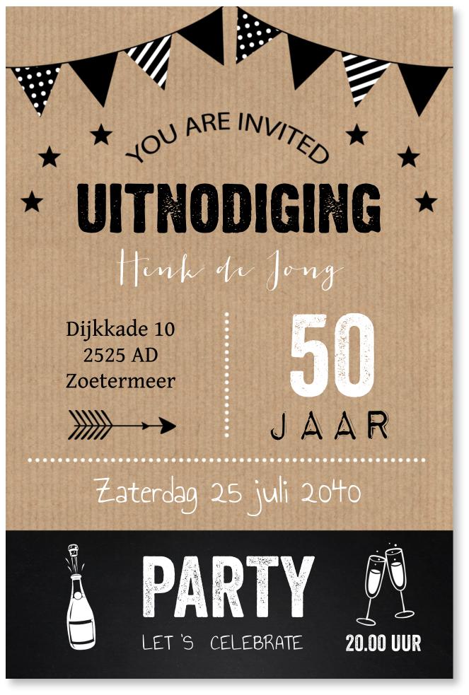 Verjaardag typografie slinger
