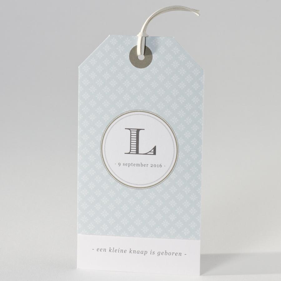 Modern labelkaartje in grijsgroen 505068